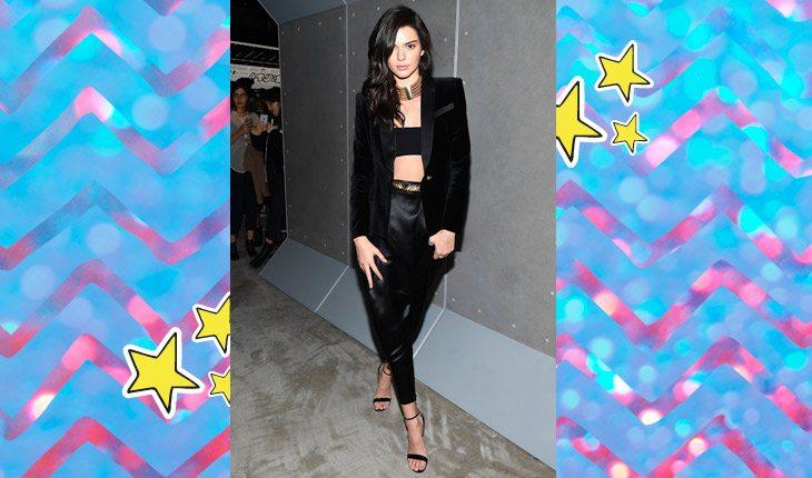 Kendall Jenner usando look todo preto