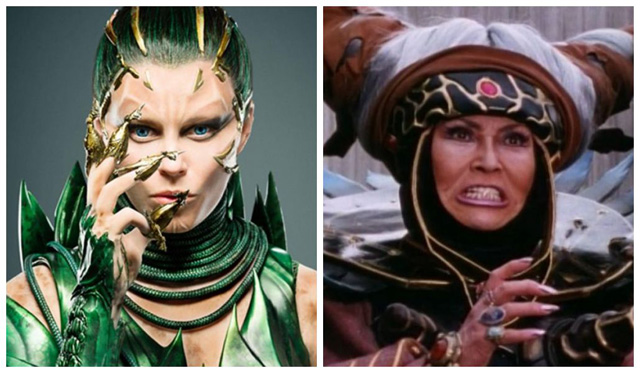 Comparativo entre Rita Repulsa da série de TV e do Cinema