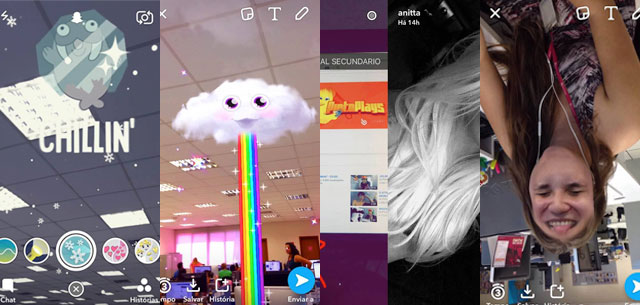 novos filtros do snapchat
