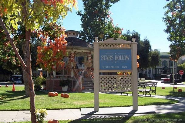 praça da cidade Stars Hollow