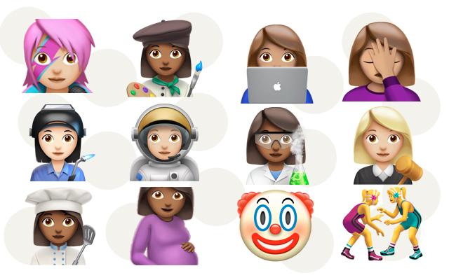 emojis novos de mulheres apple