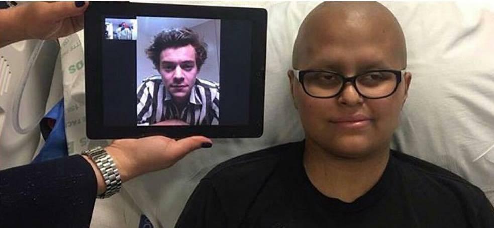 harry styles e sua fã com câncer
