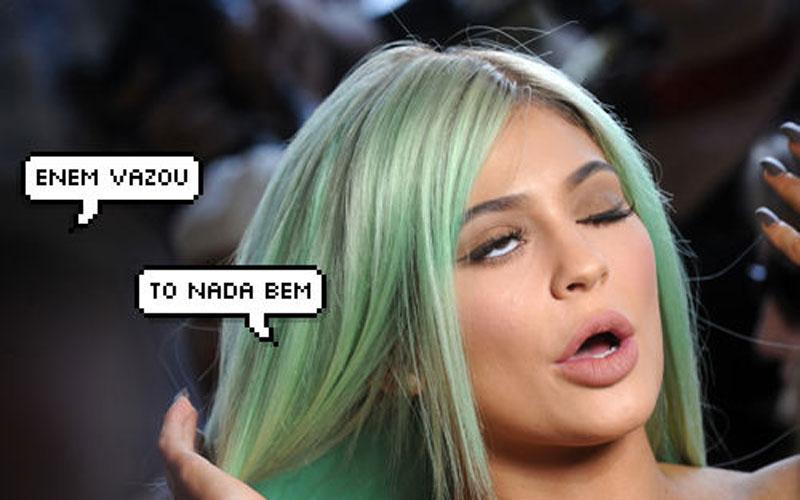 meme da kylie jenner falando sobre o vazamento do enem