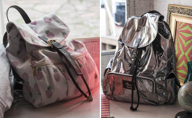 Looks com tênis e mochilas para viajar com as amigas
