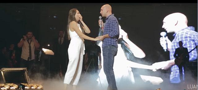 casamento no show do luan santana