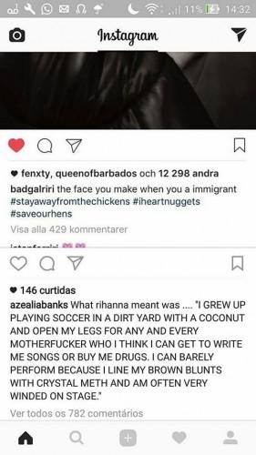 Treta Azealia Banks e Rihanna