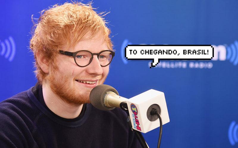ed sheeran dizendo ''to chegando, brasil'', preços de shows