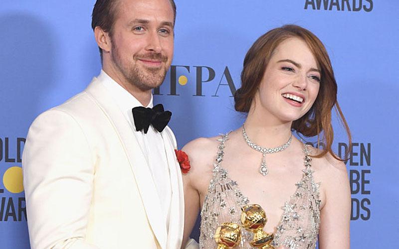 Ryan Gosling e Emma Stone Globo de Ouro 2017