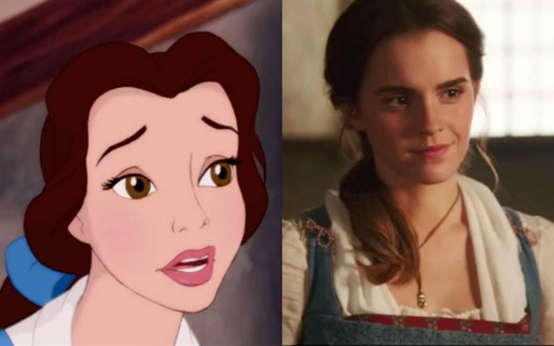Comparação entre os trailers de A Bela e a Fera
