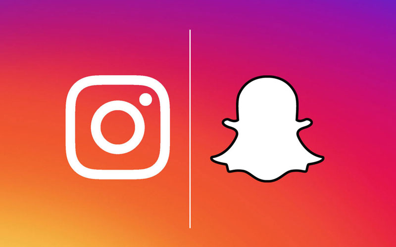 instagram stories e snapchat rivais