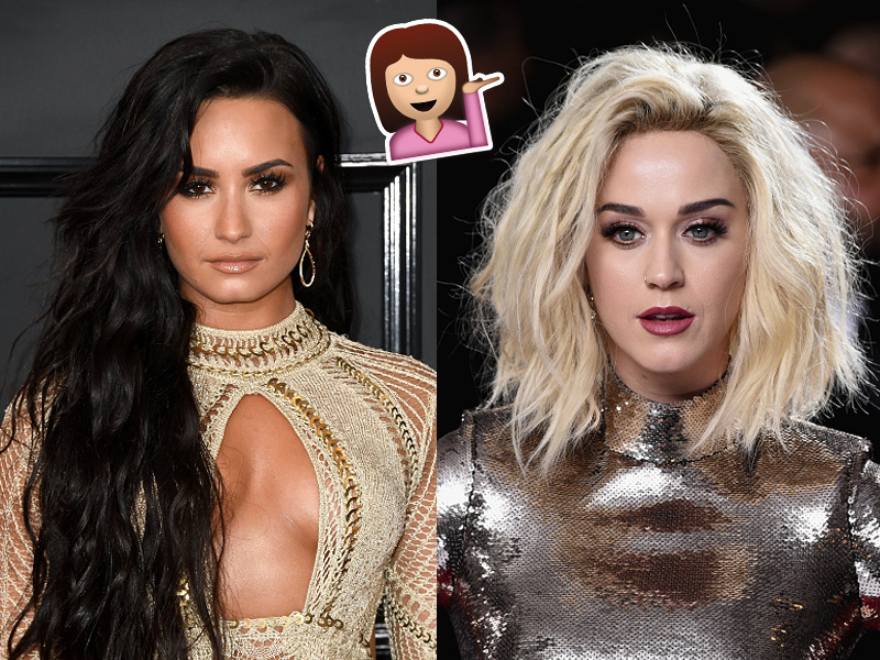 Demi Lovato e Katy Perry no Grammy 2017