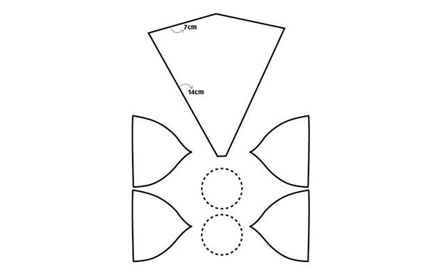 Molde para fazer uma tiara de unicórnio