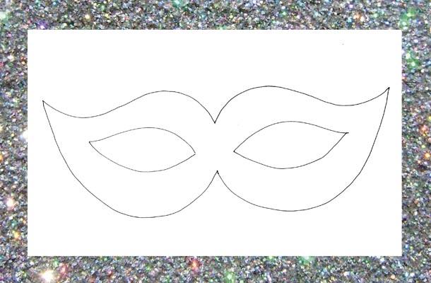 Desenho de molde de máscara de carnaval