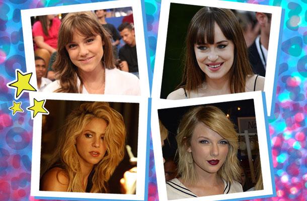 Alice Wegmann, Dakota Johnson, Shakira e Taylor Swift com franjas