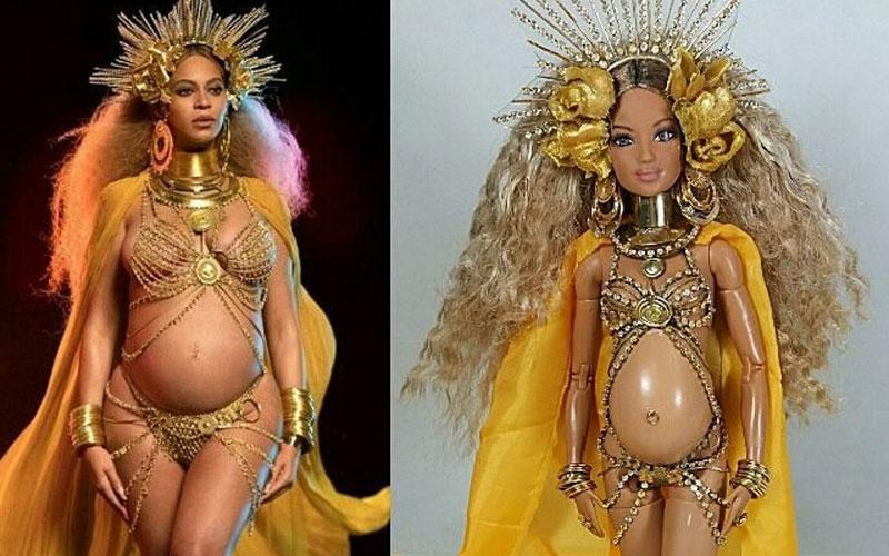 Boneca da Beyoncé grávida com a roupa do Grammy