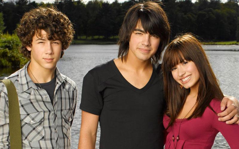 Nick, Joe e Demi em Camp Rock