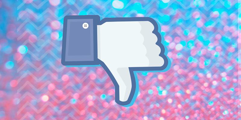 Botão de Não Gostei no Facebook
