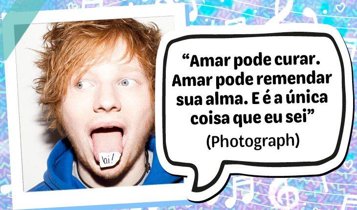 12 frases do Ed Sheeran