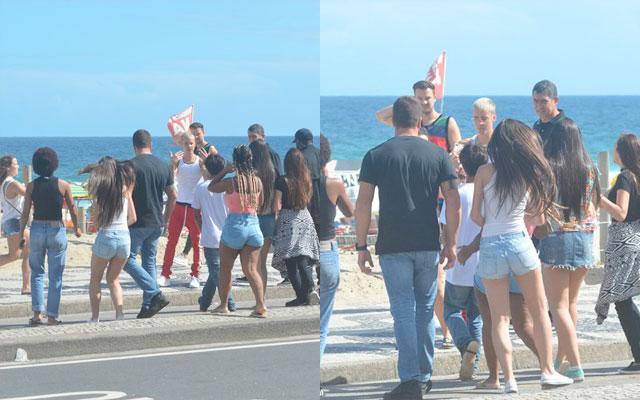 Justin Bieber na praia