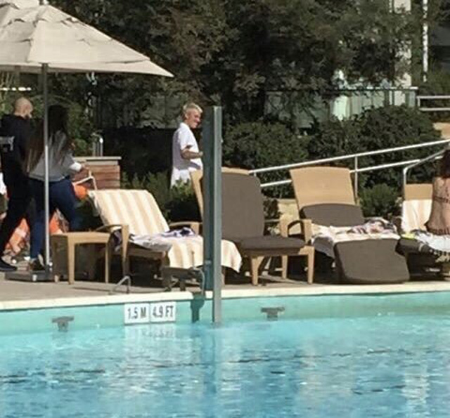 Justin Bieber em hotel no Chile