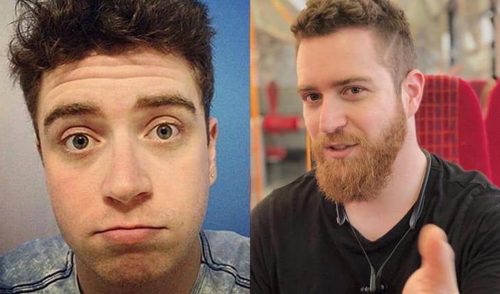 Antes e depois youtubers