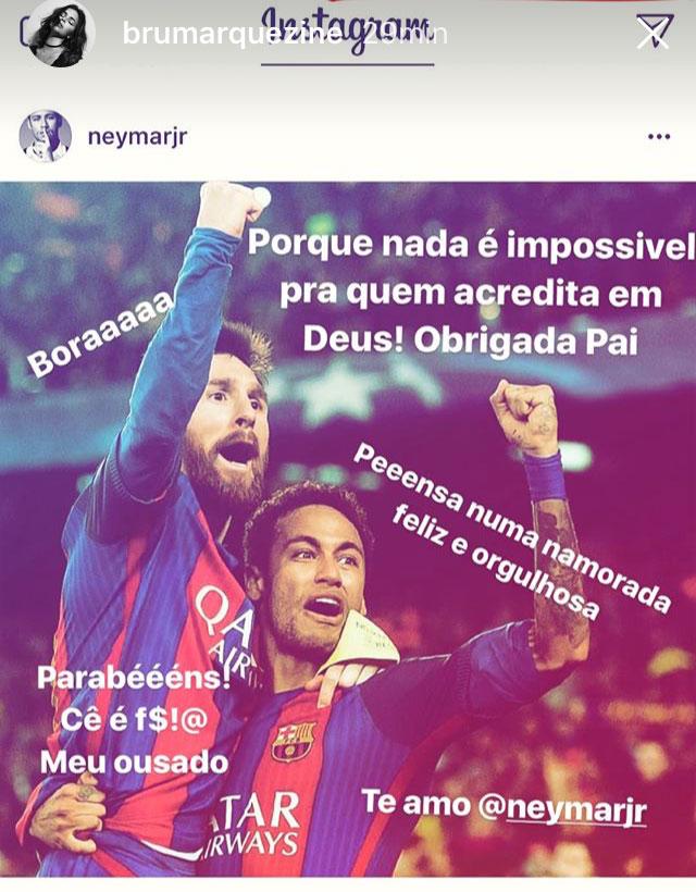 Foto de Neymar com vários elogios de Bruna Marquezine