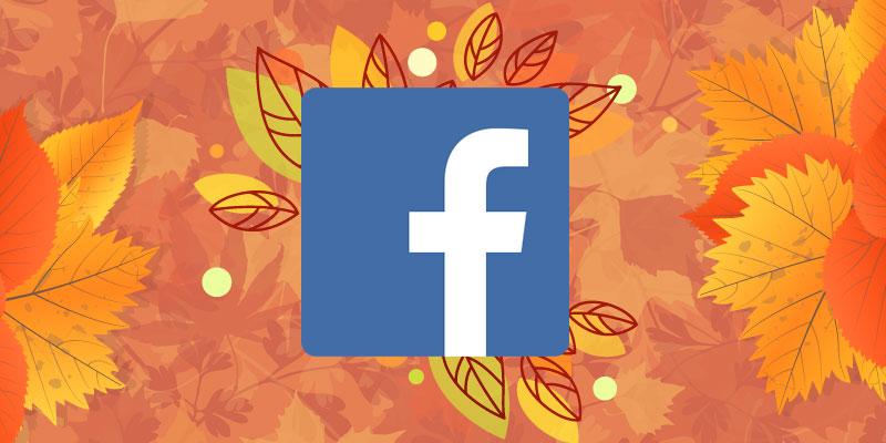 Facebook recurso comemorar o Outono