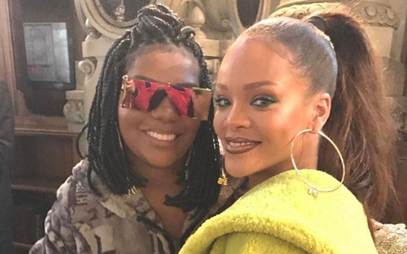 Ludmilla conhecendo Rihanna