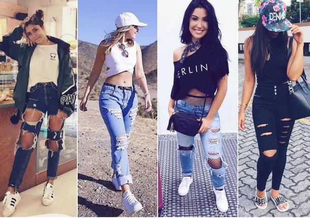 tênis-jeans-destroyed-blogueiras