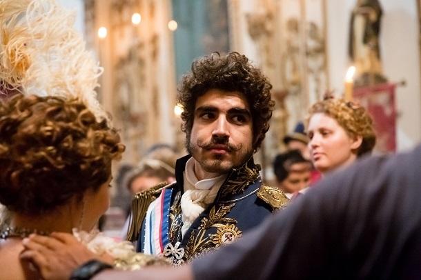 Ator Caio CAstro caracterizado como Dom Pedro