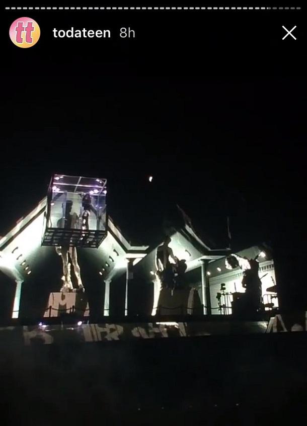 Entrada de Justin Bieber no palco
