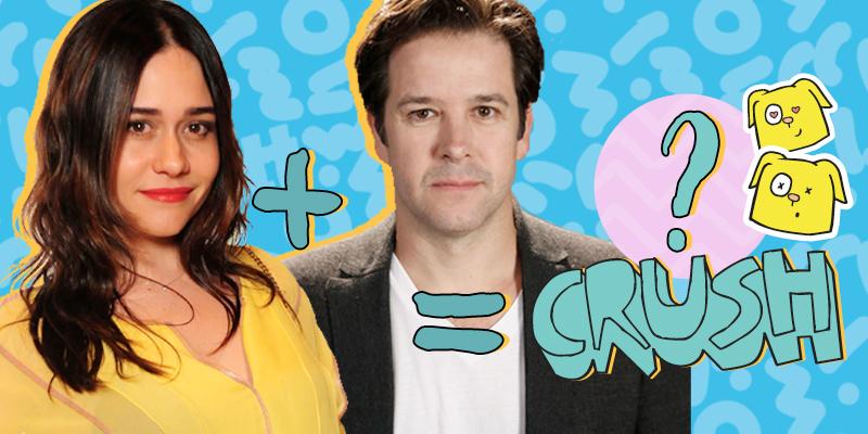 Montagem de fotos da Alessandra Negrini com o Murilo Benício, insinuando que a soma dos dois gera um crush no filho do casal