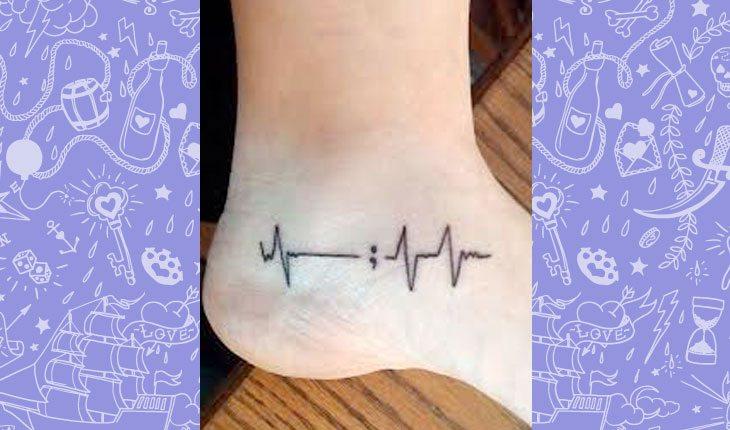 tatuagem de ponto e vírgula