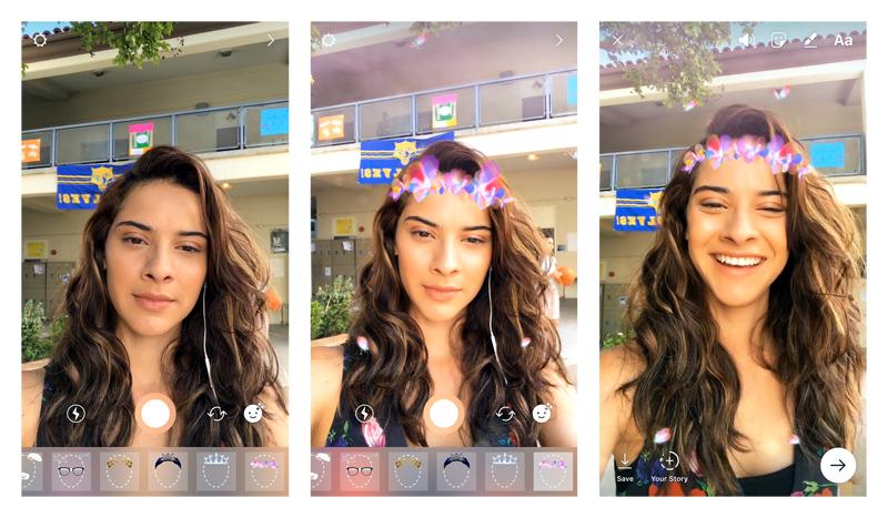 prints da utilização de filtros do instagram