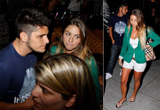 Bruno Gissoni conversa com Stephanie em balada ou bar