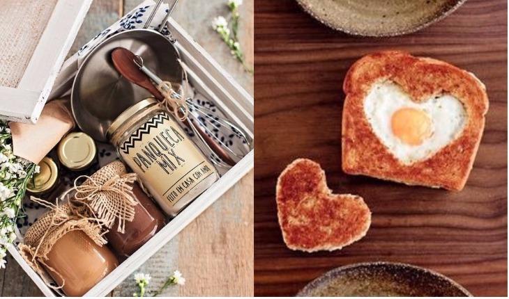 ideias de cesta de café da manhã caseira