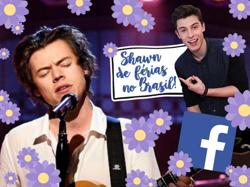 Harry e Shawn muma montagem com flores roxas do Facebook (novo botão)