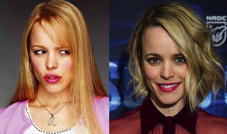 Meninas Malvadas: antes e depois de Rachel McAdams