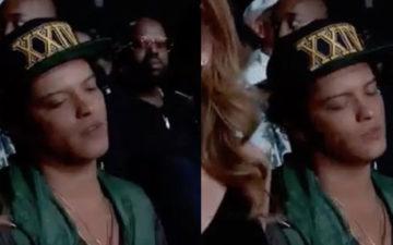 Bruno Mars dá uma cochilada ao vivo durante o BET Awards