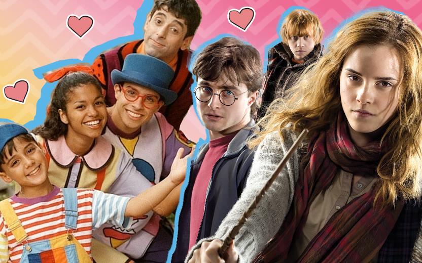montagem de personagens do Castelo Rá-Tim-Bum com personagens de Harry Potter