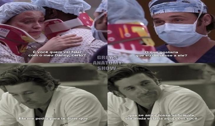 Derek falando para o namorado de Bonnie sobre a morte