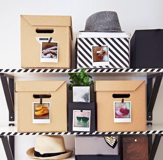 Instax é útil: aprenda a usar suas fotos Instax para identificar objetos, organizar o closet, o armário...