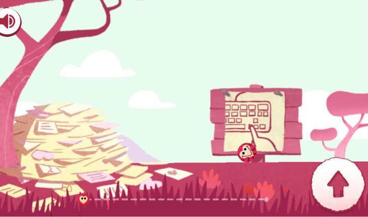 Jogo especial de Dia dos Namorados do Google