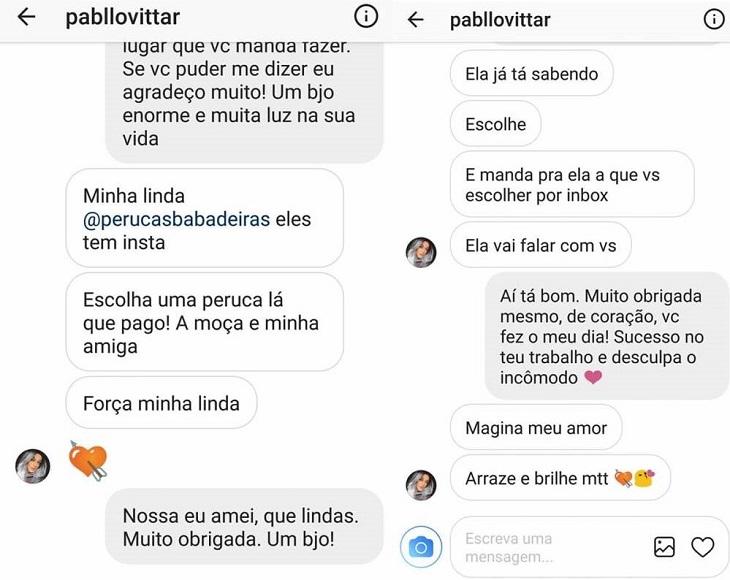 Conversa entre Pabllo Vittar e Christiane Freitas