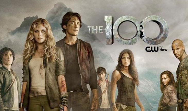 personagens de the 100 em cenário apocalíptico