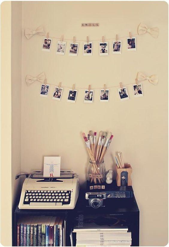Varais de fotos: diversos tipos supercriativos de varaizinhos para decorar os espaços da sua casa!