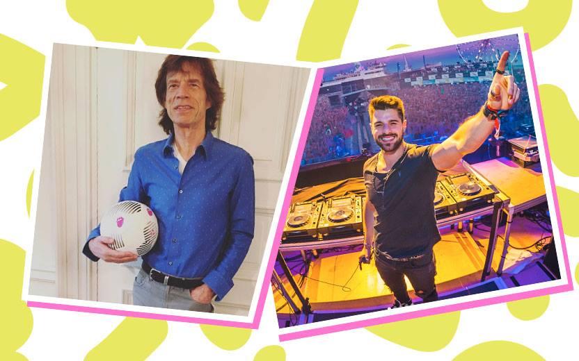 Montagem com fotos de Mick Jagger e Alok