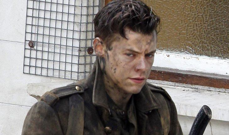 Harry Styles nos bastidores de Dunkirk