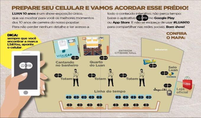 Infográfico Show de 10 anos do Luan Santana