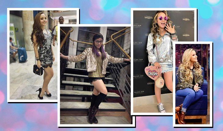 Looks da Larissa Manoela com brilho